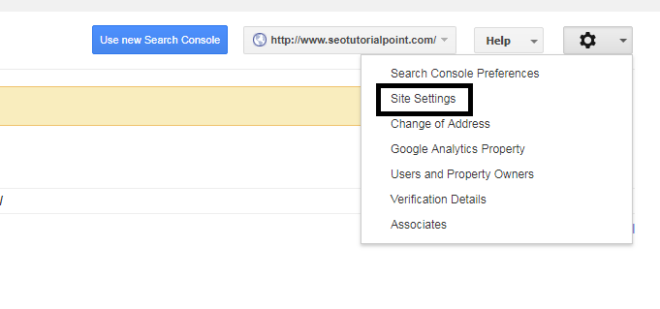 webmaster site setting