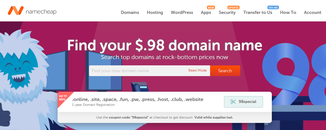 namecheap domain