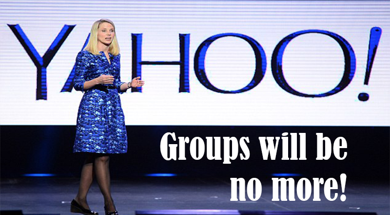 Yahoo all groups will shut down