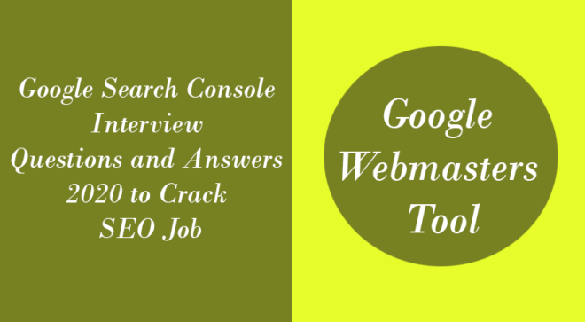 Google Search Console Interview Questions and Answers